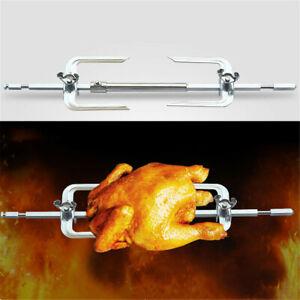1pc Electric BBQ Rotisserie Grill Roast Rod Spit Universal Kit Motor Meat Skewer