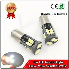 4x H6W BAX9s 434 5730 10 SMD LED SIDELIGHT CAN OBC ERROR FREE NEW bulbs DC 12V