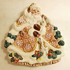 Fitz and Floyd Santa Claus With Rabbits Cookie Tray / Plate