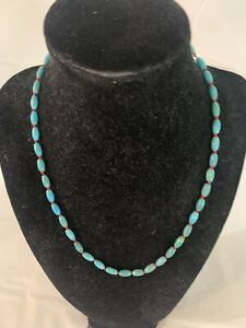 Turquoise on Red String Necklace and Bracelet Set