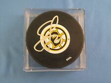 Sean O'Donnell Signed Boston Bruins HOCKEY PUCK BSC COA Autograph