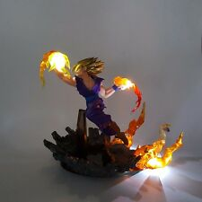 Dragon Ball Z Son Gohan Super Saiyan Fire Fist Led Light DIY Toys Set Fast Ship