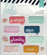 Heidi Swapp WANDERLUST (11pc) PUFFY SPEECH BUBBLE STICKERS scrapbooking