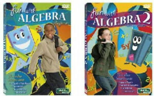 Fun with Algebra 1 & 2   Beginner-Intermediate DVDs NEW  makes math easy