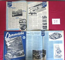 revue L'Automobile N° 31 juillet 1948 / Monthléry , indianapolis , Northrop ....