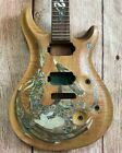 Neck&Body Electric Guitar 6 Str Handmade Dragon Inlaid Solid Tiger Mape STR640 for sale