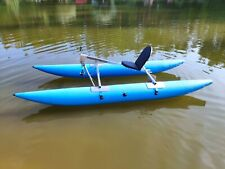 Water Bike Pontoon Catamaran Pedal Paddle Boat Hydro Water Kayak