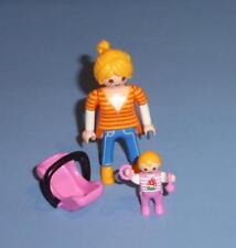 Playmobil Female Figure Baby & Car Seat Carrier for House Hospital Park Car NEW