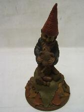 "Tom Clark Artwork Series ""Guess Who"" Gnome & Bear Figurine Ink SignedCoa Euc"