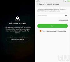 Suppression du compte Xiaomi . EUROPE SEULEMENT (NON COMPTE GOOGLE)