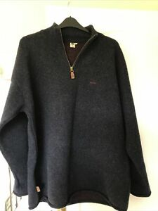 80% Lambswool Fat Face Man Navy Jumper Size Large L