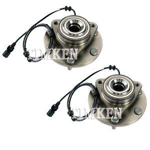 Pair Set of 2 Front Timken Wheel Bearing and Hub Kit for Infiniti QX56 QX80 RWD
