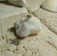 Natural EMERALD Buttercup STUD Earrings A Great Gift Idea!