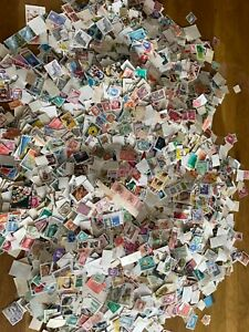 WORLD stamps off paper vintage and modern 1000+ free uk postage