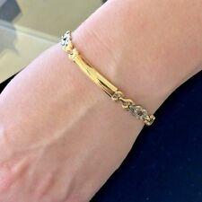 Stunning Classy Lovely Two Tone 18KY Gold Ladies Italian bracelet