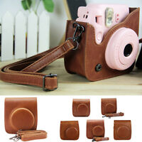 Brown Camera Case Leather Caiul Fujifilm Instax Polaroid Mini 8/25/7s/50/70/90/9