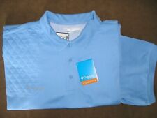 3Xl Rh Trap/Skeet Pad Blue Vented Back OmniShade Polo Shooting Shirt/Columbia