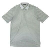 Peter Millar Golf Shirt Men Size L Summer Comfort Short Sleeve Quick Dry Polo