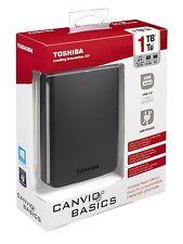 HARD DISK ESTERNO 2,5 USB 3.0 1000GB 1TB TOSHIBA AUTOALIMENTATO CANVIO BASICS
