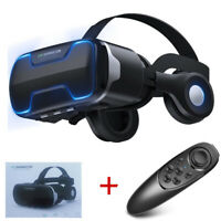 Virtual Reality VR Headset IMAX 3D Glasses With Remote for Android IOS iPhone