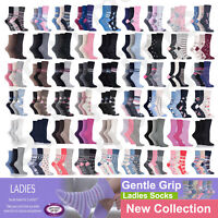 3, 6 Pairs Ladies Women Gentle Grip Cotton Socks Non Elastic Honeycomb Top  4-8