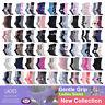 3, 6 Pairs Ladies Women Gentle Grip Cotton Socks Non Elastic Honeycomb Top  4-8