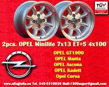 2 Cerchi OPEL Minilite 7x13 ET+5 4x100 Wheels Felgen Llantas Jantes