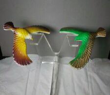 2 COLORFUL VINTAGE 80'S  MAGIC BALANCING BIRDS Eagles