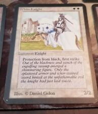 WHITE KNIGHT, MtG ALPHA Magic the gathering beautiful! NearMint unplayed