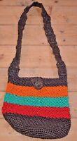 Rustic Bohemian Tribally Woven Contemporary Mochila Bag Colombia, South America