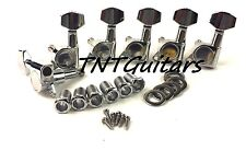 MODERN SEALED Guitar Tuners, 6 inline LEFT Handed, LEFTY Tuning Keys/Pegs C