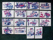 Monster Hot Rod Cartoons Arcade Vending Machine Cards 16 Chevy Ford Mopar AMC VW
