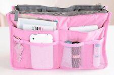 Women Travel Insert Handbag Organizer Purse Large Liner Tidy Bag Pouch(Pink)