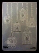 Sizzix Large Embossing Folder BIRDCAGES #2  fits Cuttlebug & Wizard