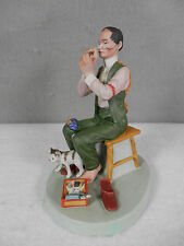 Norman Rockwell / Danbury Mint, Bisque Porcelain, Man Threading A Needle