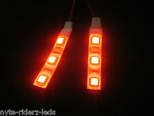 RED 5050 SMD LED 2 STRIPS 3 LED EACH  FITS  CARS MOTORCYCLES TRUCKS SUVS BOATS
