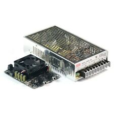 2 X 100W Class D Audio Amplifier Combo Kit w MW 24V 200W Power Supply T-AMP