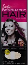 Barbie Designable Printable Hair Extensions Refill Pack 8- Extensions 2- Clips