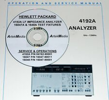 HP 4192A 16047A 16048A  Ops & Service Manuals 3 volumes (readable schematics)