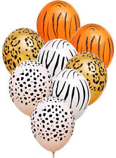 Jungle Safari Latex Helium Quality Latex Balloons x 8 Zoo Animal Decoration