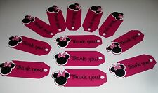 Hand Crafted Minnie Mouse Birthday Thank You Tags (1028E)