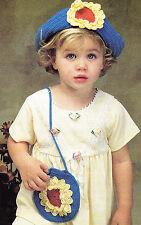 Crochet Pattern ~ LITTLE GIRLS SUNSHINE FLOWER PURSE & HAT ~ Instructions