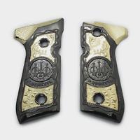 Beretta 92/96 Metal Grips Beretta 92F, 92FS, M9, 96 Models MEDUSA Gold Black