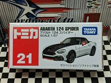 TOMICA #21 ABARTH 124 SPIDER 1/57 SCALE NEW IN BOX