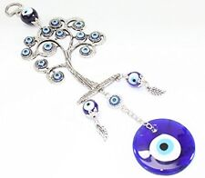 Turkish Blue Evil Eye (Nazar) Life Tree Amulet Wall Hanging Home Decor Protectio