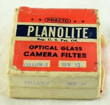 Vintage Original Planolite Optical Glass Filter Series VI Practo  Red & Yellow
