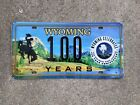 2016 - WYOMING -NATIONAL PARK SERVICE -100th ANNIVERSARY -BOOSTER -LICENSE PLATE