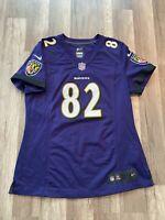Auth Nike Women's NFL Baltimore Ravens #82 Torrey Smith Football Jersey Sz M