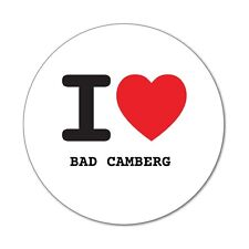 I love BAD CAMBERG  - Aufkleber Sticker Decal - 6cm