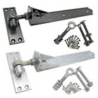 Gate Hinges ADJUSTABLE Heavy Duty QUALITY Hook and Band +Fix ££ Per PAIR